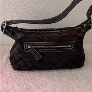 EUC Authentic coach signature print mini bag
